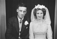 Studio Photo Of A Wedding Couple