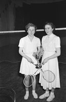 February 1954; Members Of The T.C.L.S. Badminton Club Who Won The Kerry Minor Badminton League In Tralee.
