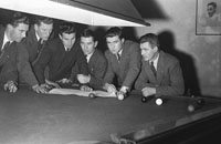 27th February 1954; A Group Of Men From The Snooker Championship Of Kerry At Tralee.