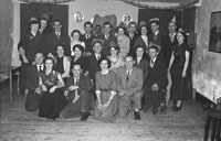 January 1954; A Group Posing At The C.I.E. Badminton Social At The Meadowlands Hotel.