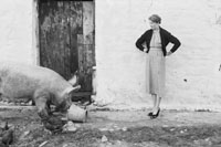 4th February 1956; Annie Mai Donegan, The Queen Of Plough, At Home On The Farm In Causeway.