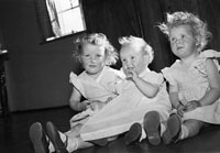 October; A photo of a group of children taken at their home.