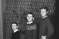 1953; A Studio Photo Of Three Brothers.