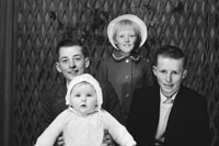 1953; A Studio Photo Of A Family