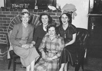 January 1954; A Group Of Ladies Posing At A Social At The Meadowlands Hotel.