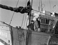 French Trawler 'Men-Hir' Strikes A Rock