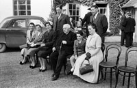 20th June 1954; A Group Celebrating The Golden Jubilee Of Very Reverend Fr D.F. O'Sullivan At The Meadowlands Hotel, Tralee.