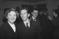 January 1954; A Couple Posing At The Macra Na Feirme Social At The Meadowlands Hotel, Tralee.