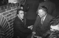 January 1954; Two Men Chatting At The Macra Na Feirme Social At The Meadowlands Hotel, Tralee.