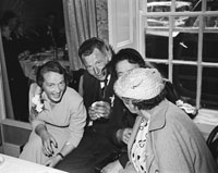2nd September 1954; The Costello Sisters From Duagh Celebrated Their Double Wedding To M. Keane And Ed Stack, Also From Duagh At The Meadowlands Hotel, Tralee. This Photo Shows The Wedding Party Enjoying Themselves.