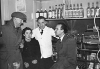 January 1954; Mick Murphy (far left) and Joe Treacy (far right) Pose With Two People At The Dominican Choir Social At The Grand Hotel, Tralee.