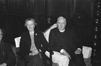 January 1954; A Priest And A Woman Posing At The Dominican Choir Social At The Grand Hotel, Tralee.