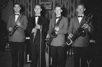 26th June 1955; A photo of Members of The Jimmy Wiley Orchestra, Mitchelstown performing in Tralee.