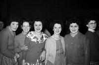 May 1960; A group of women at a dance in Millstreet.