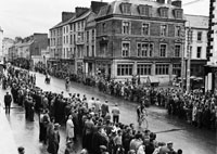 9th August 1962; Stage 5 of the Ras Tailteann arrives in Tralee from Dublin. The winner of the stage was S Cullen from Dublin.