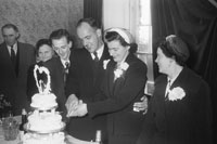 1955; A Photo Of The Newlyweds Cutting The Cake At Donal O'Regan's (Of St. Brendan's Park) Wedding Reception In The Meadowlands Hotel, Tralee
