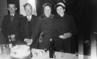 1955; A Photo Of Newlyweds Cutting The Cake At Their Wedding Reception At The Meadowlands Hotel In Tralee.