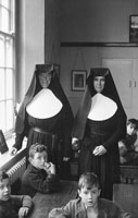 December 1955; A Photo Of Two Nuns And Pupils Of The Presentation Convent In Tralee.