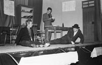 December 1955; A Photo Of Members Of An Unknown Drama Group Rehearsing A Play.