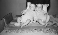 10th December 1955; A Photo Of County Secretary Kevin O'Hare's (O'Hehir) Twins At Home.