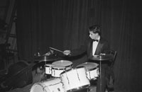 December 1955; A Photo Of The Drummer Of The Paddy Breen Dance Band.