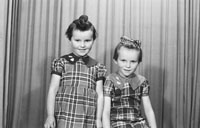 December 1955; A Studio Photo Of The Sayer Children From Camp.
