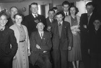 1955; A Photo Of A Wedding Group Posing For The Camera  In The Meadowlands Hotel In Tralee.