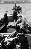 1955; A Photo Of People On The Valentia Island Ferry.