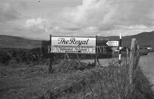 1953; The Sign For The Royal Hotel On Valentia Island.