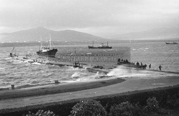 1953; A Photo Of Boats Off Valentia Island.