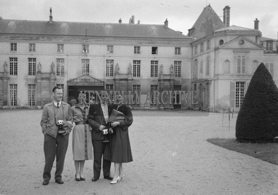 1953; A group on a tour of Paris.