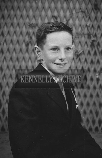 1953; A Studio Photo Of A Confirmation Boy.