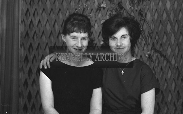 1953; A Studio Photo Of Two Women Posing For The Camera.