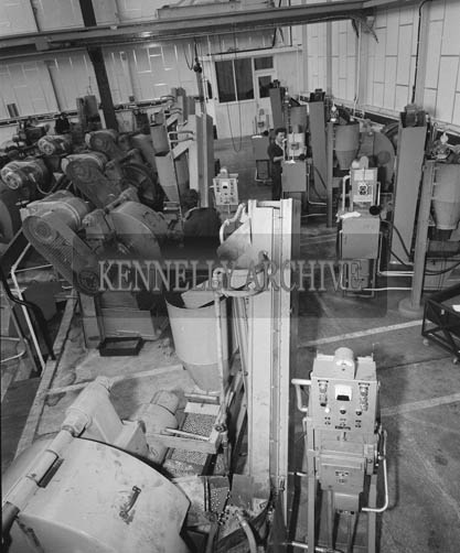 1964; Employees at work at the Kerry Precision Ball Factory in Clash, Tralee.