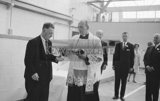 25th May 1964; The official opening of the Kerry Precision Ball Bearing Company in Tralee, attended by the Minister for Industry and Commerce Mr Jack Lynch. The factory was the first of its type in Ireland.