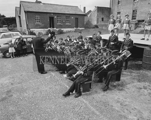 26th/28th May 1964; A photo taken of St Joseph's Boys Band at the Trade Fair at the Kingdom County Fair in Tralee.