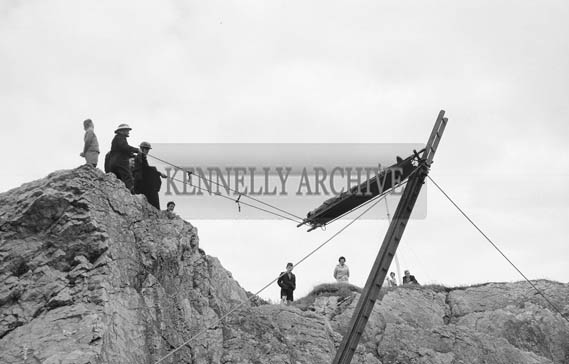 5th-12th  July 1964; A photo of a rescue demonstration at Fenit festival.