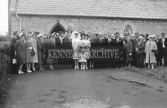 28th July 1964; A photo taken at the wedding of Denis Foley and Joan O'Halloran in The Church of the Immaculate Conception (St Catherine's), Tralee.