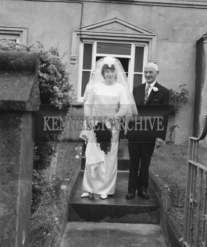 28th July 1964; A photo taken at the home of the Carmody sisters in Ardfert as they leave for their wedding.