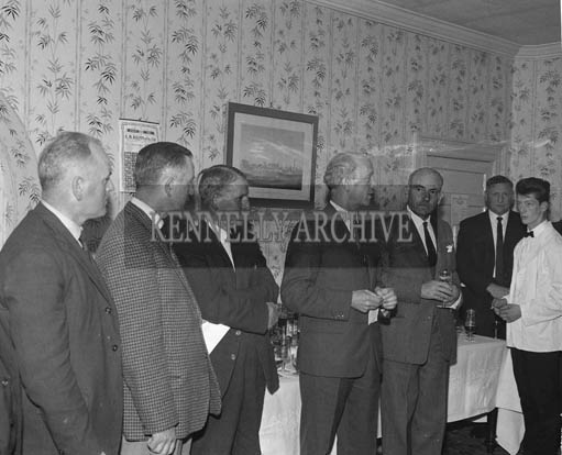 28th July 1964; A photo taken at the Tralee Race Committee Press Conference in Benner's Hotel. John O'Donnell is standing third from left.