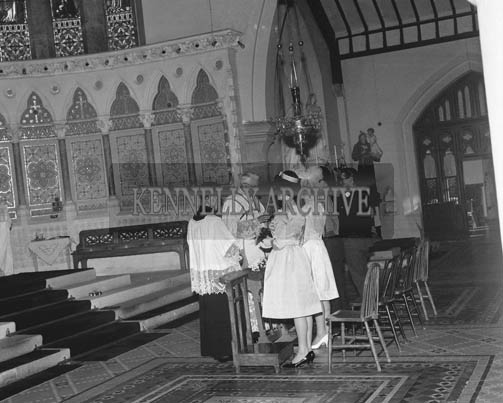 15th September 1964; A photo taken at the wedding of Donie Quirke to Teresa Sayers in St Mary's Church in Dingle.