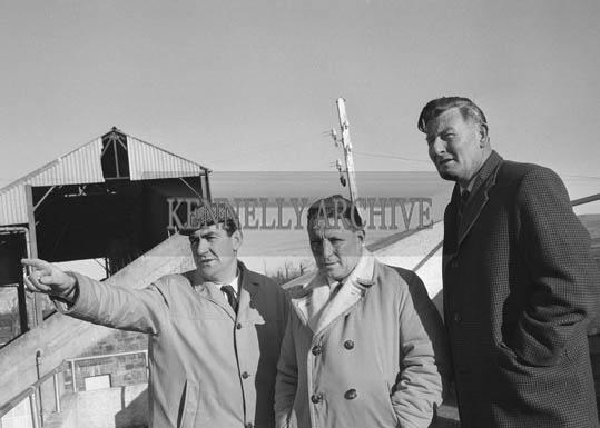 January 1964; A photo including Joe Grace (left) and Florence O'Connor (right) at Ballybeggan Racecourse.