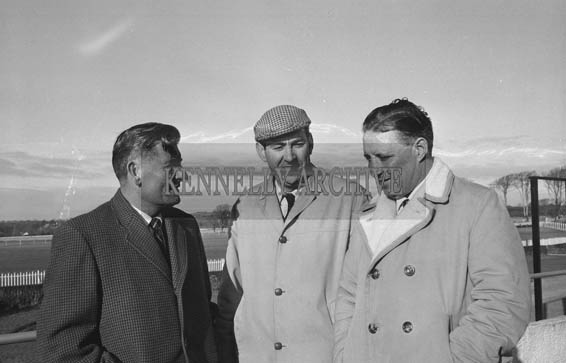 January 1964; A photo including Joe Grace (centre) and Florence O'Connor (left) at Ballybeggan Racecourse.