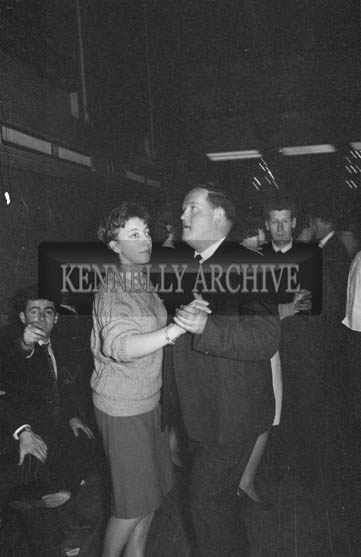 31st January 1964; People enjoying themselves at a dance in the Ashe Hall in Tralee. Music was by The Blue Aces Showband.