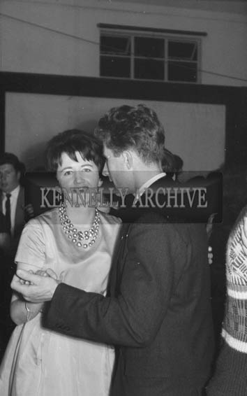 3rd November 1964; People enjoy themselves at a Muintir na Tire dance in Milltown.
