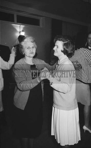 5th December 1964; People enjoying themselves at the Kevin Barry Social in the Meadowlands Hotel, Tralee.