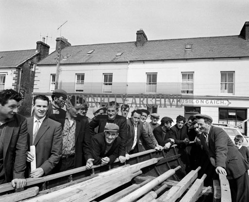August 1964; A photo of Dingle fishermen.