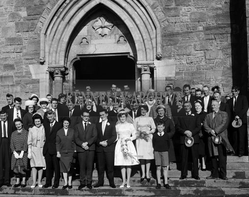 15th September 1964; A photo taken at the wedding of Donie Quirke to Teresa Sayers in St. Mary's Church in Dingle.