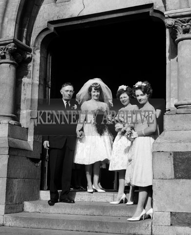 19th September 1964; A photo taken at the wedding of Michael O'Sullivan and Ann Devane at St. Mary's Church in Dingle.