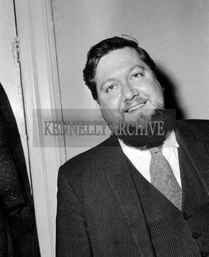 October 1964; A photo of Glenbeigh Hotelier, Ernie Evans.